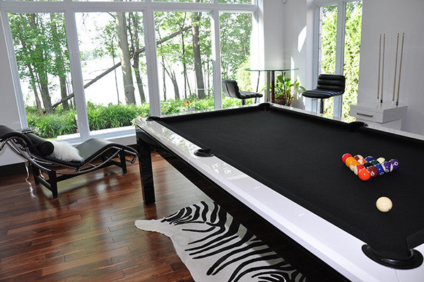 La Condo Evolution dining pool table rail detail