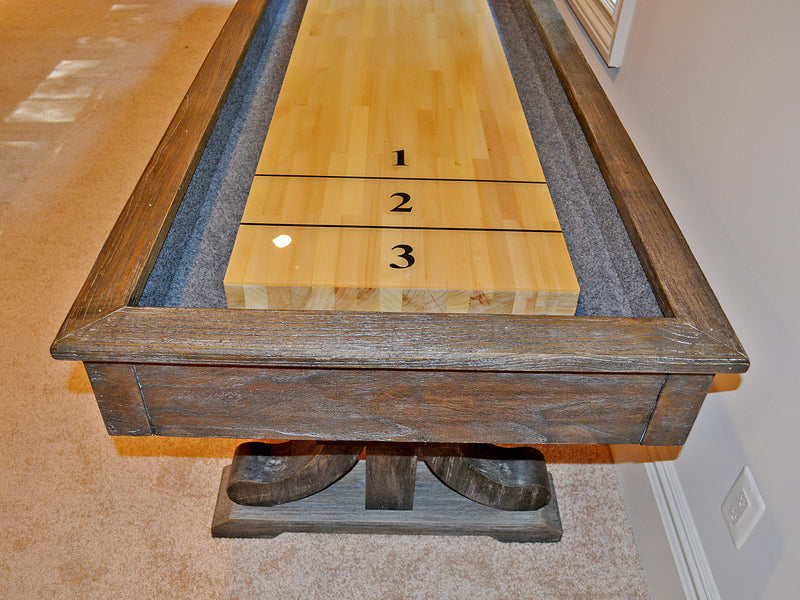 presidential carmel shuffleboard table room end