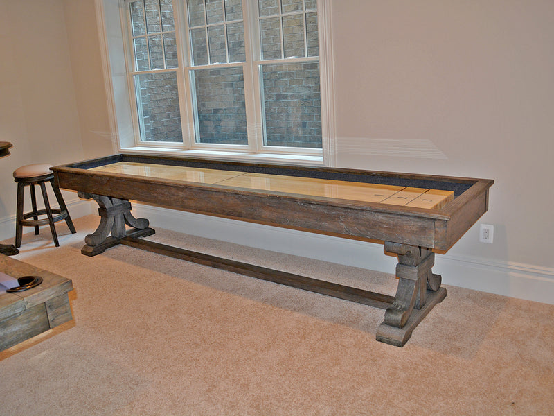 presidential carmel shuffleboard table room side