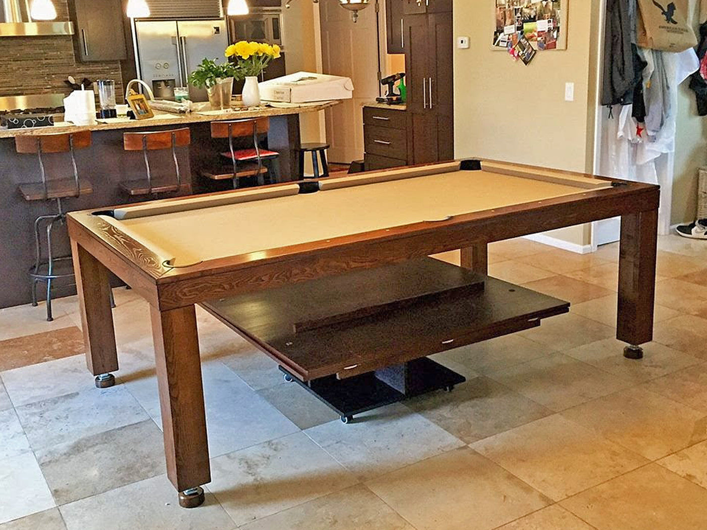 Castile Dining Pool Table Room ...