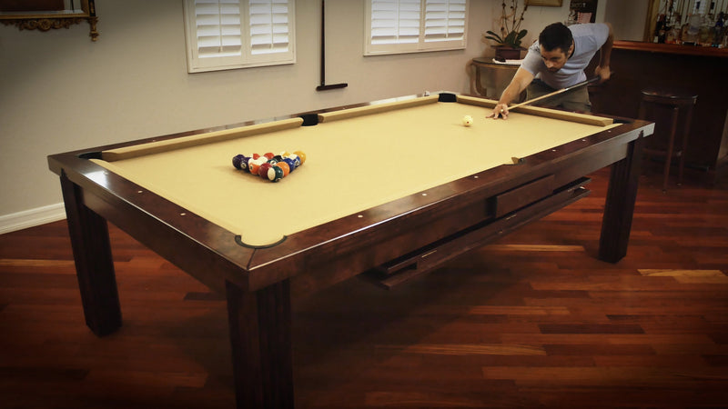 dining pool table action shot