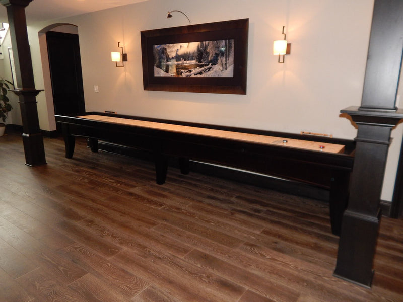olhausen chicago shuffleboard black lacquer side view