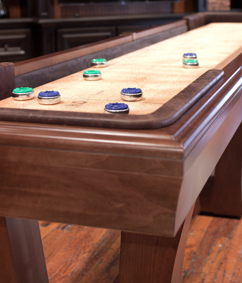 California House City Shuffleboard Table end