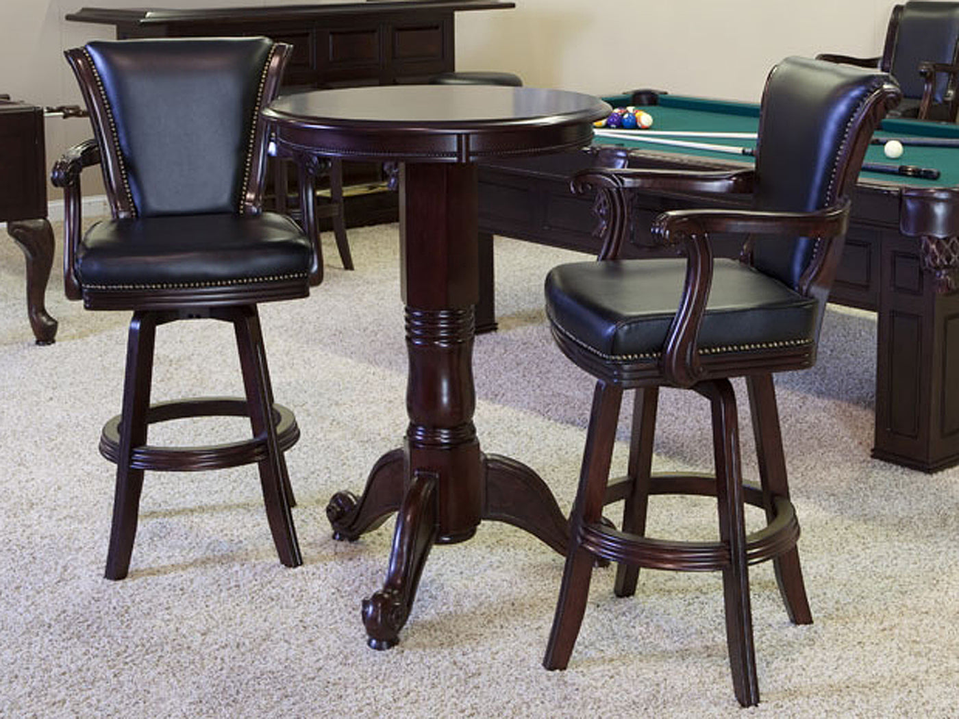 CL Bailey Winslow Bar Stool Traditional Mahogany Stock ...
