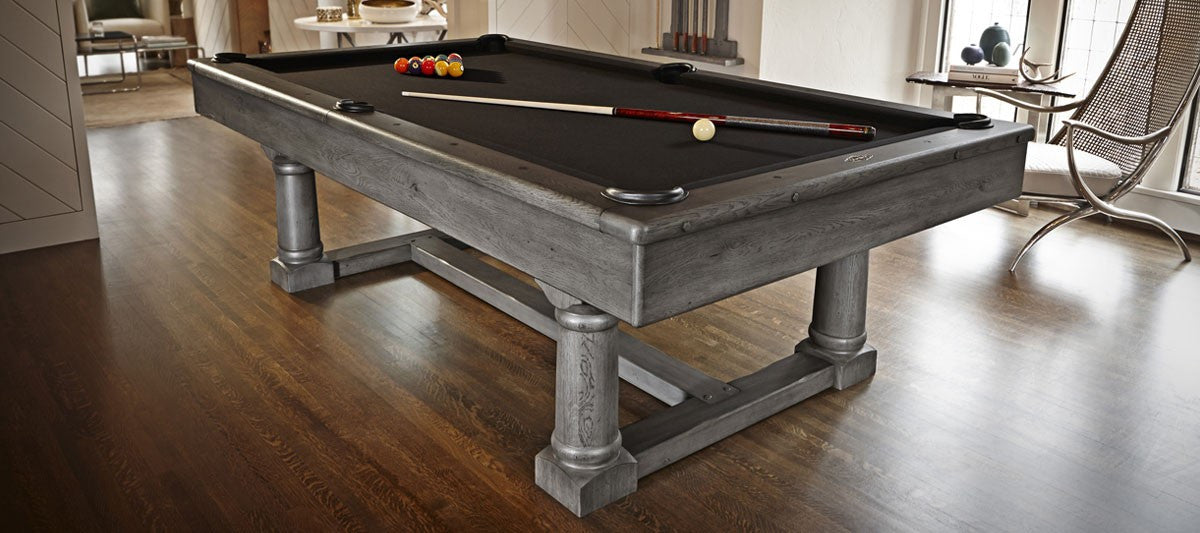 Brunswick Park Falls Pool Table Greystone Finish ...