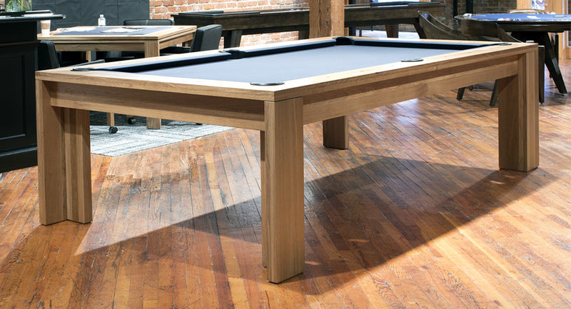 California House District Pool Table Rustic White Oak room