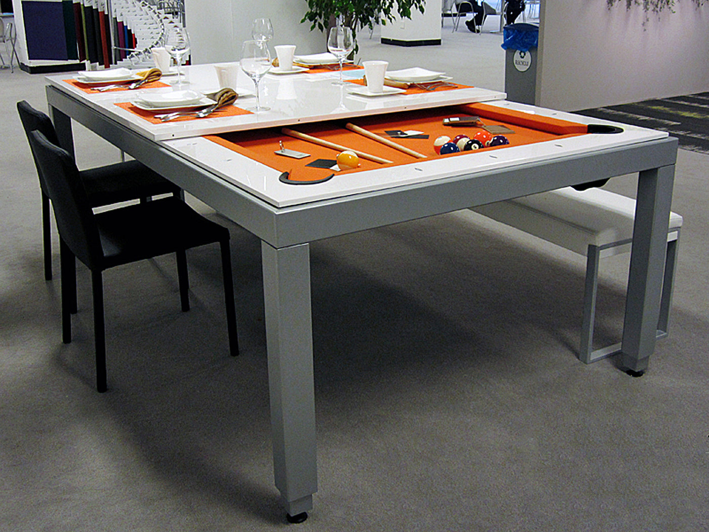 Merveilleux Aramith Fusion Dining Pool Table White Lacquer ...
