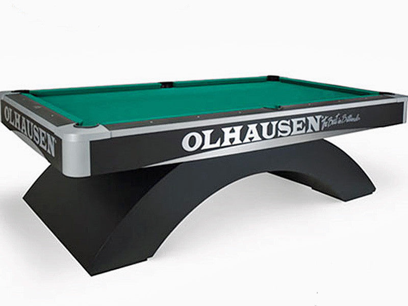 Olhausen Grand Champion pool table aluminum trim waterfall base