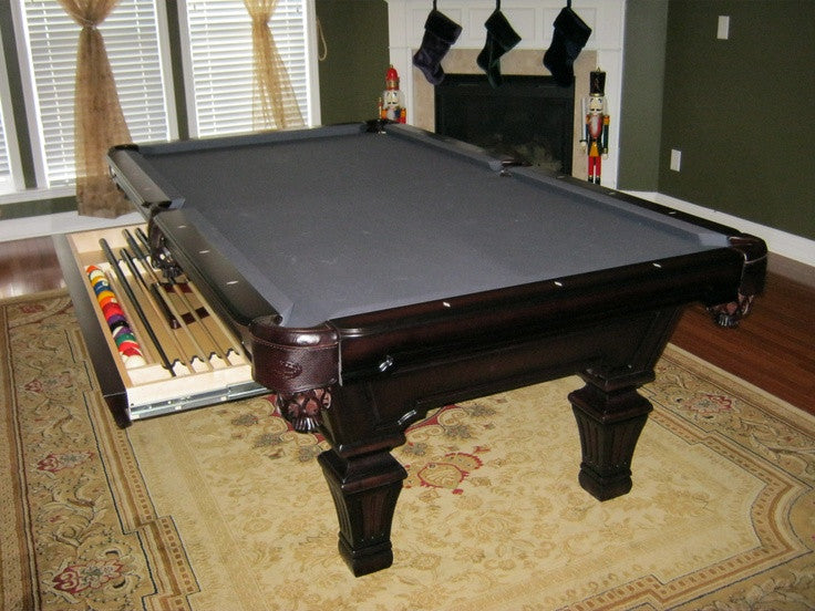 Hampton with drawer pool table heritage cherry