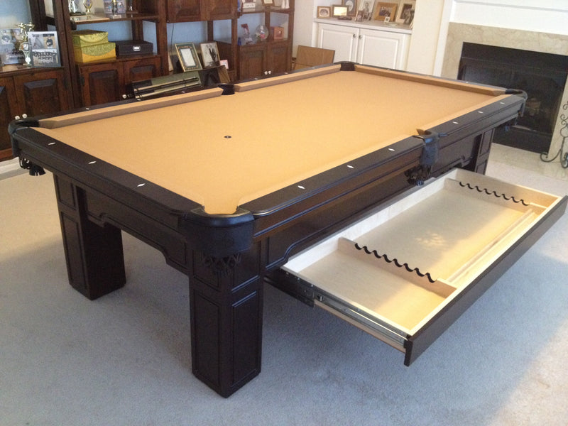 Huntington Pool Table Cherry with drawer