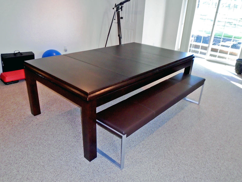 La Condo dining pool table with fusion bench