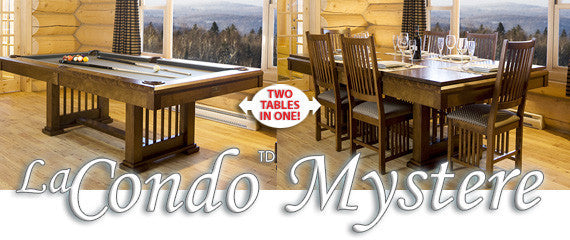 La Condo Mystere Dining Pool Table stock