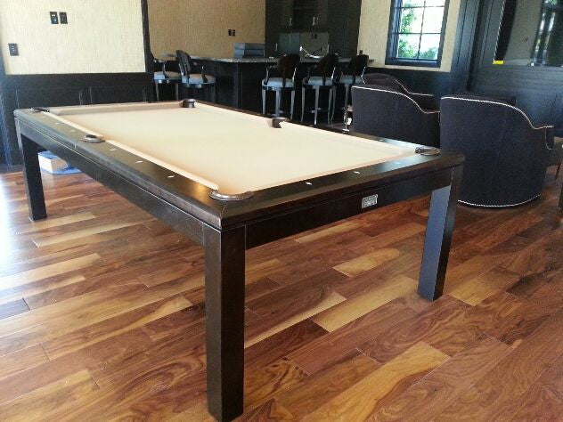 La condo dining pool table black on birch