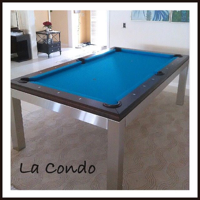 Canada Billard La Condo Stainless Dining Pool Table detail