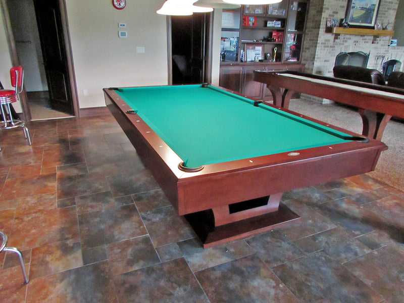 alexandria pool table 9' cherry