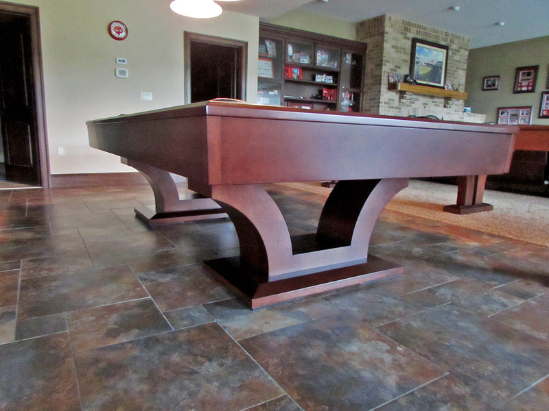 olhausen alexandria pool table cherry leg