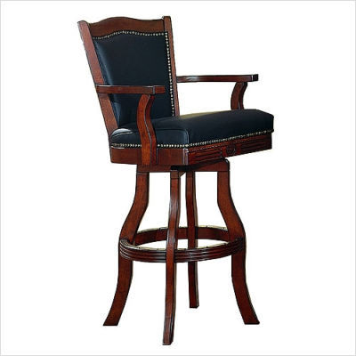 ECI 7040 Leather Nail Head Bar Stool
