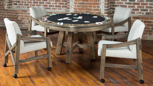 california house loft poker table oak