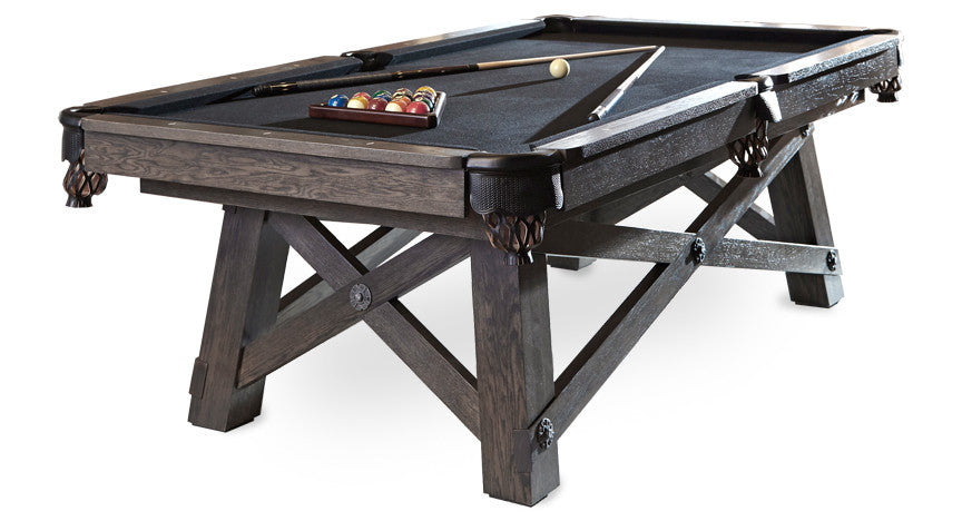California House Loft Pool Table stock