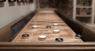California House Atherton Shuffelboard Table pucks