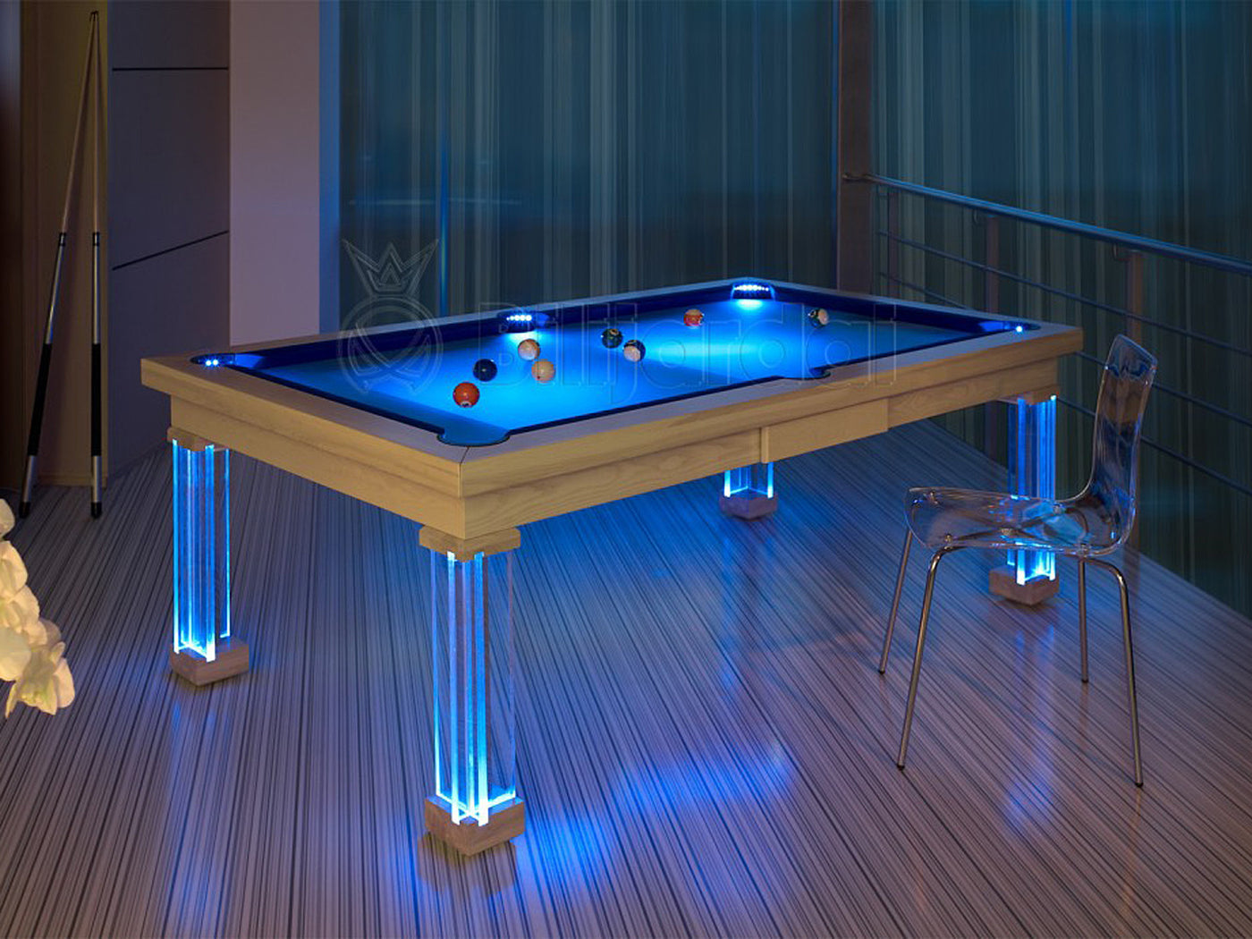 Monte Carlo Dining Pool Table White Lacquer ...