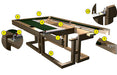 Canada Billiard Maze Pool Table construction