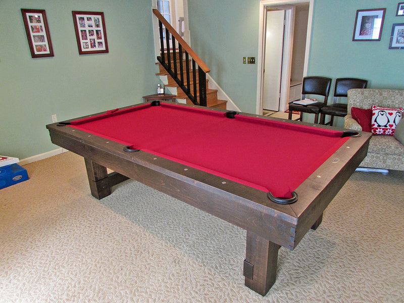 breckenridge pool table burgundy dark brown finish