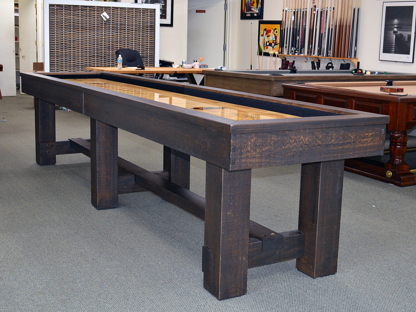 olhausen breckenridge shuffleboard table – robbies billiards