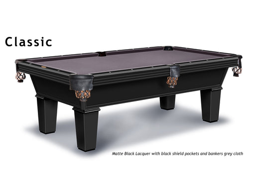 olhausen classic pool table black stock