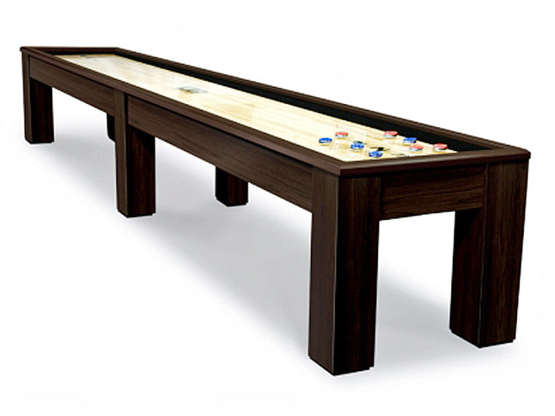 madison shuffleboard table espresso