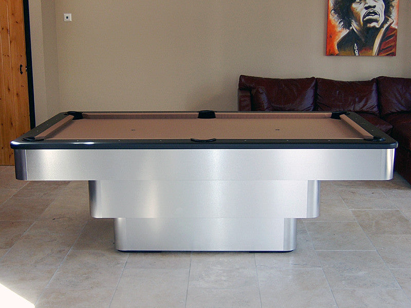 olhausen maxim pool table brushed aluminum side