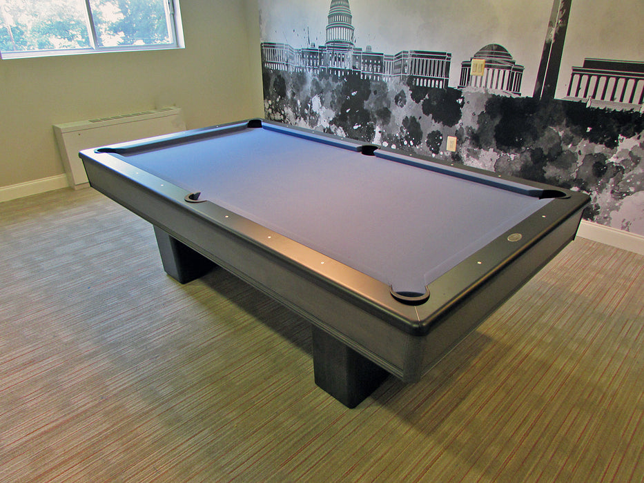 olhausen monarch pool table matte black and grey