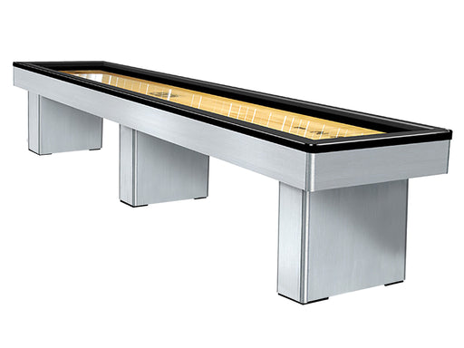 Olhausen Monarch Shuffleboard Table brushed aluminum