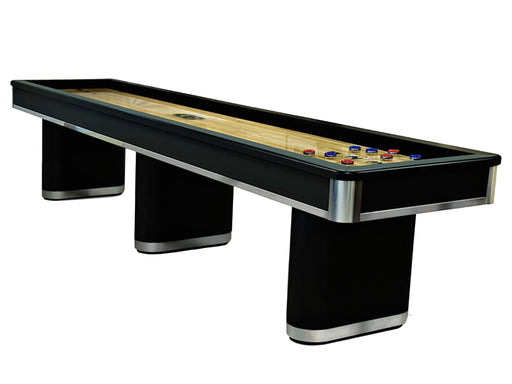 Olhausen Sahara Shuffleboard Table Black Lacquer Aluminum finish