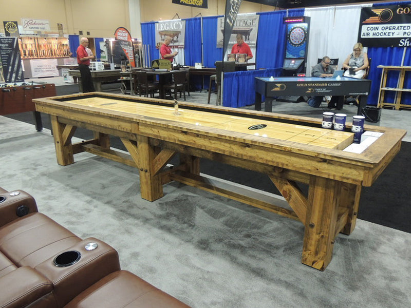 Olhausen Timber Ridge Shuffleboard Table side