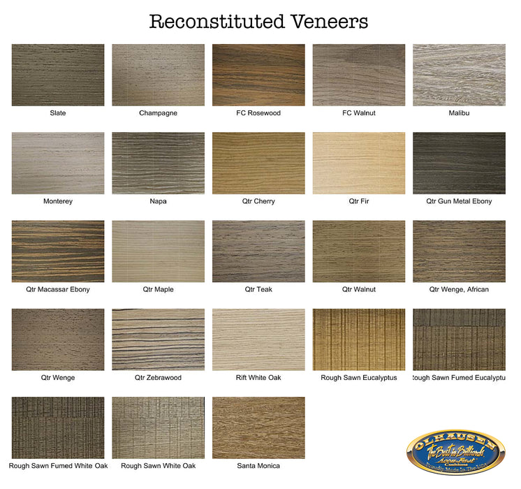 Olhausen encore pool table veneer options