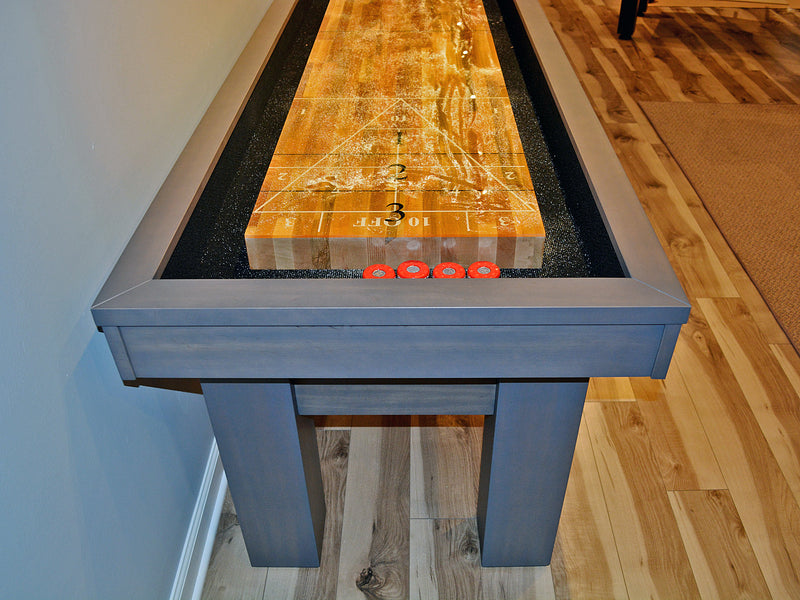 west end shuffleboard table play surface custom scoring