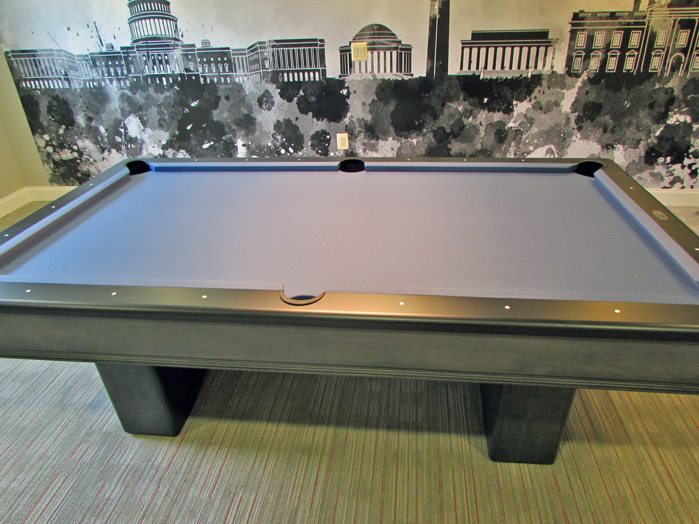 ... Black Rails; Olhausen York Pool Table Washington Dc Skyline ...