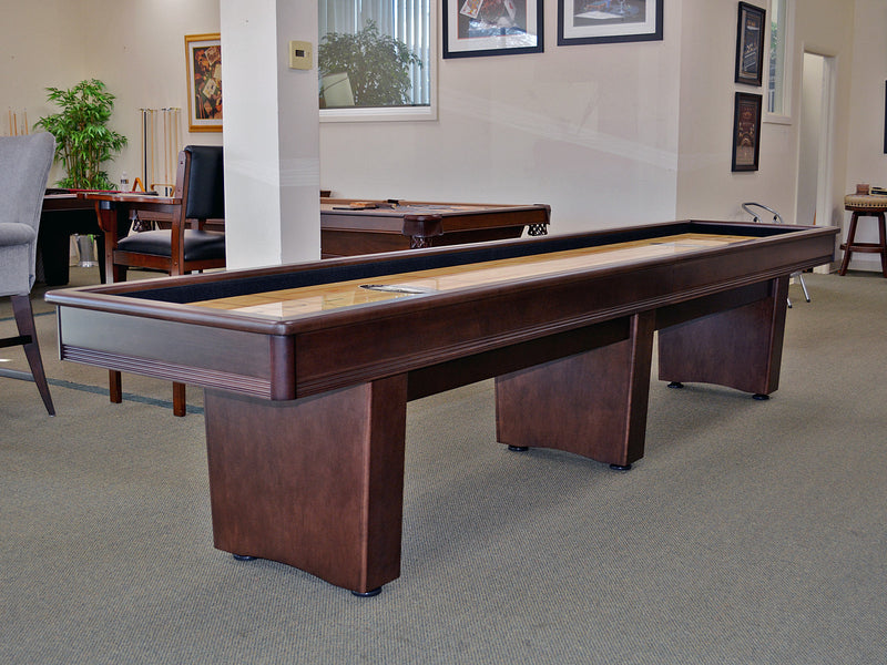 olhausen york shuffleboard table espresso