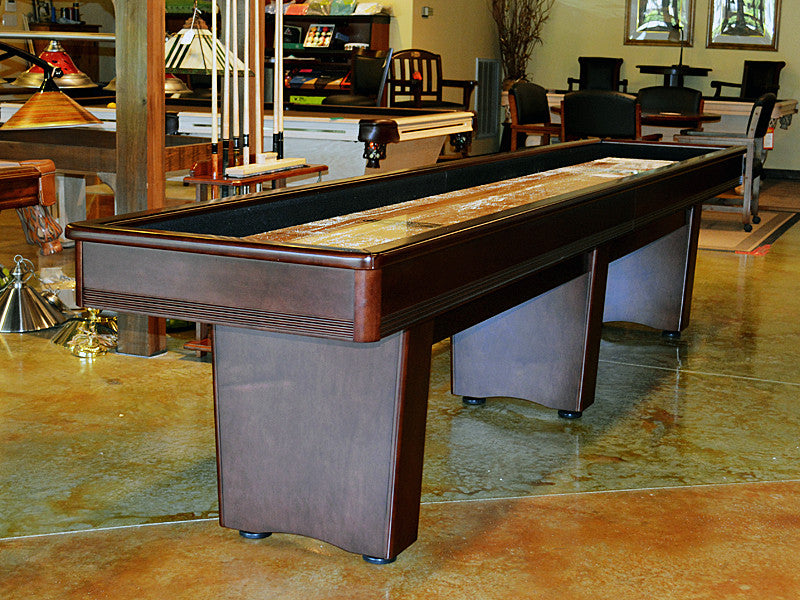 york shuffleboard table original cherry