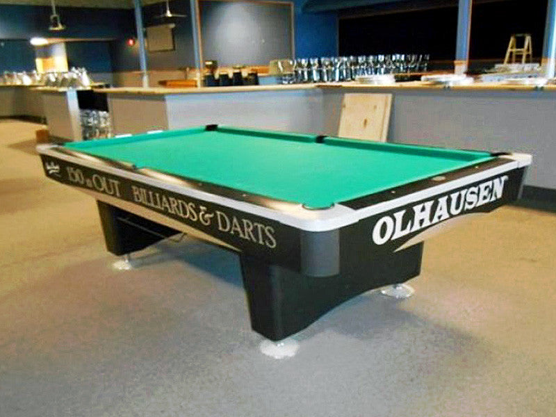 Olhausen Grand Champion pool table aluminum trim chrome foot