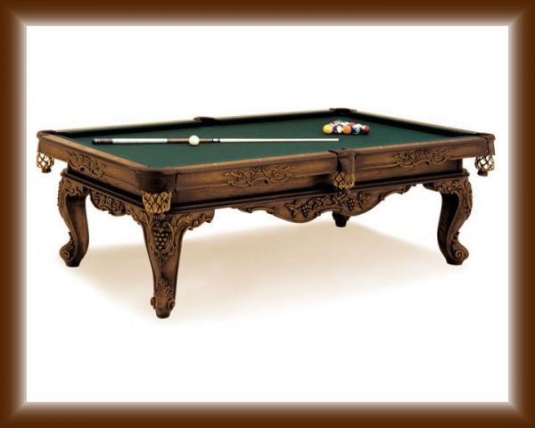 Olhausen Louis XIV Pool Table heritage cherry