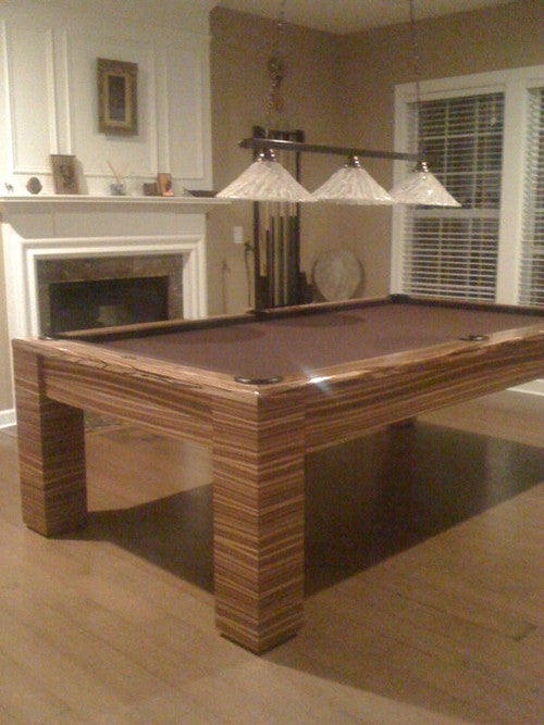 olhausen madison pool table in zebrawood