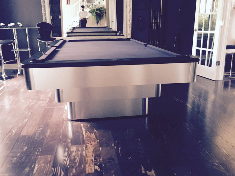 olhausen maxim pool table brushed aluminum end