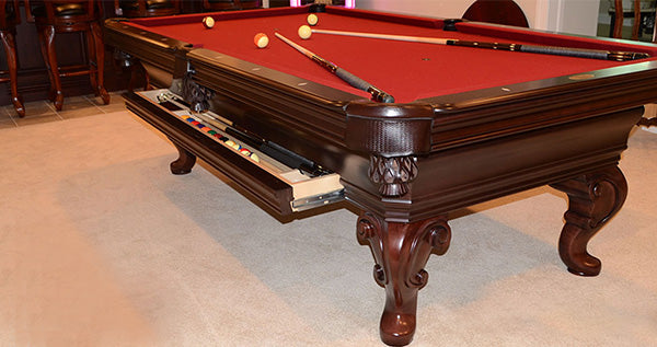 olhausen seville pool table drawer