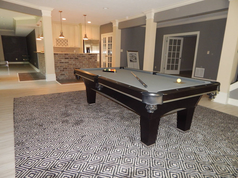 Olhausen Sheraton Pool Table black and aluminum room