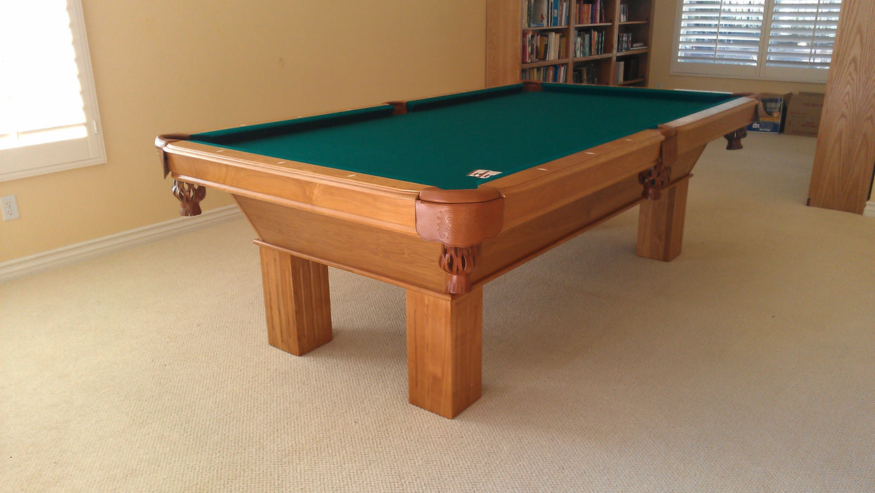 Olhausen Southern Pool Table Oak room