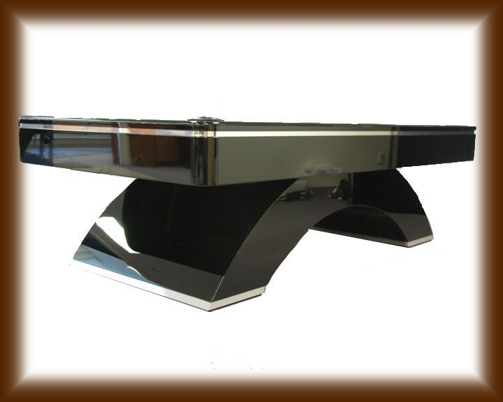 waterfall pool table piano black lacquer 2