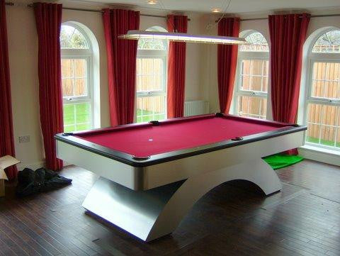 waterfall pool table aluminum black matte rails