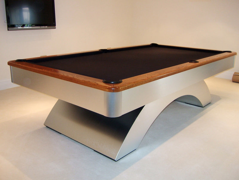 waterfall pool table brandywine maple rails
